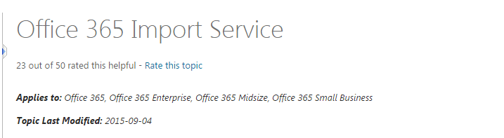 Office 365 Import Service Extended To SharePoint Online And OneDrive