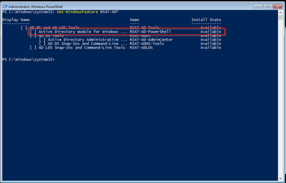 Install Active Directory PowerShell Module On Windows Server 2016