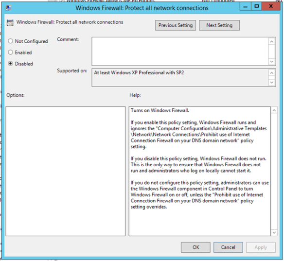Disable Windows Firewall Using Group Policy - Cloud and DevOps Blog