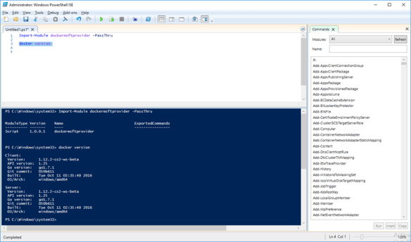 Use Docker With PowerShell ISE Console - Cloud and DevOps Blog
