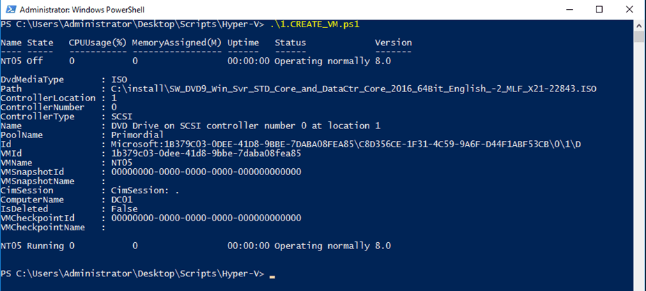 how to create a powershell scrip