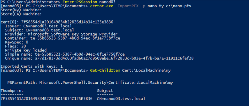 Install self signed certificate on windows nano server 2016 install self signed certificate on windows nano server 2016 windows server infrastructure yadclub Image collections