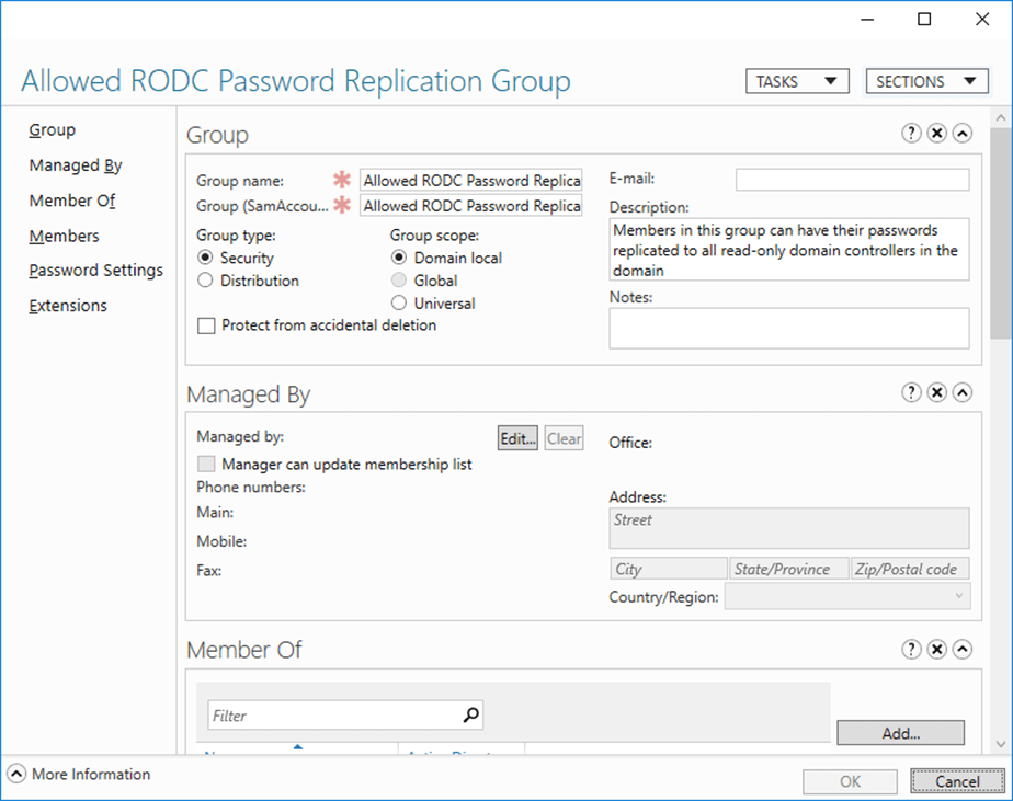 How to enable password replication on read only domain controller also the denied rodc password replication group holds users that you are denied explicitly and if you want to replicate their password you will need to yadclub Images