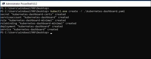 Deploy Kubernetes Web UI (Dashboard) on Docker for Windows - Cloud