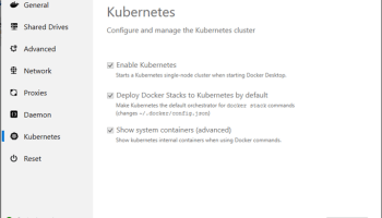 Kubernetes on Windows Error: Unable to connect to the server