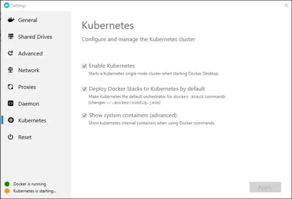 Kubernetes is starting Message on Docker Desktop for Windows - Cloud