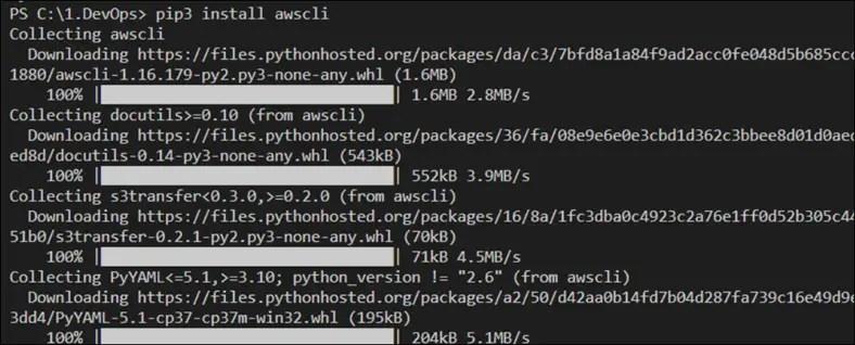 Install AWS CLI Using Python and pip On Windows Server 2019