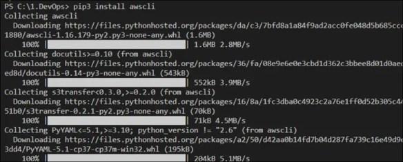 Install AWS CLI Using Python and pip On Windows Server 2019 or