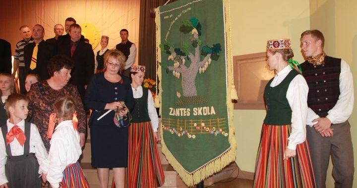 Zantes pamatskolas 130. jubilejas salidojums /FOTO/