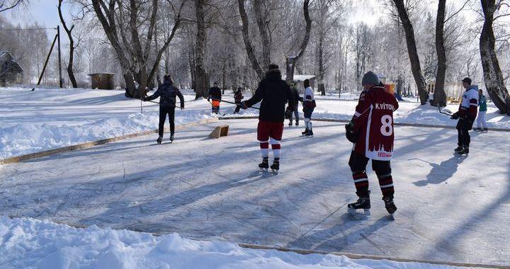 Dīķa hokeja turnīrs Viesatās /FOTO/