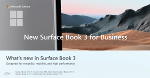 New Surface Book 3 for Business
