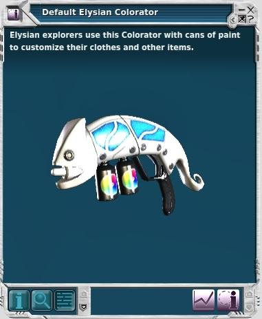 Elysian Colorator, Entropia Universe