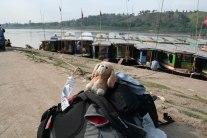 En el Mekong hacia Luang Prabang (Laos)