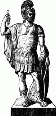 Pyrrhos I. (um 319/318 v. Chr.–272 v. Chr.), König der Molosser und Hegemone des epirotischen Bundes, https://fr.wikipedia.org/wiki/Victoire_%C3%A0_la_Pyrrhus#/media/File:Young_Folks%27_History_of_Rome_illus146.png