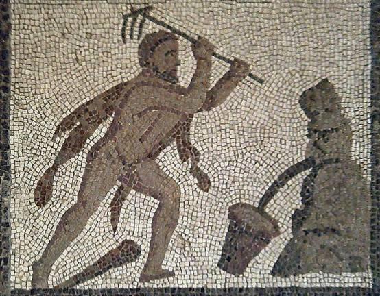 Abbildung 1: Herkules und der Stall das Augias, Museo Arqueológico Nacional de Madrid (http://www.man.es/man/home.html)