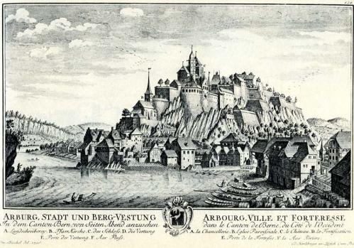 Figur 4: Schloss Aarburg, gebaut auf einem Riegel von massivem Malmkalk https://www.swisscastles.ch/valais/stmaurice/default.htm