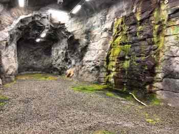 Stollen im geklüfteten Kristallin des Finnischen SMA-Endlagers in Olkiluoto