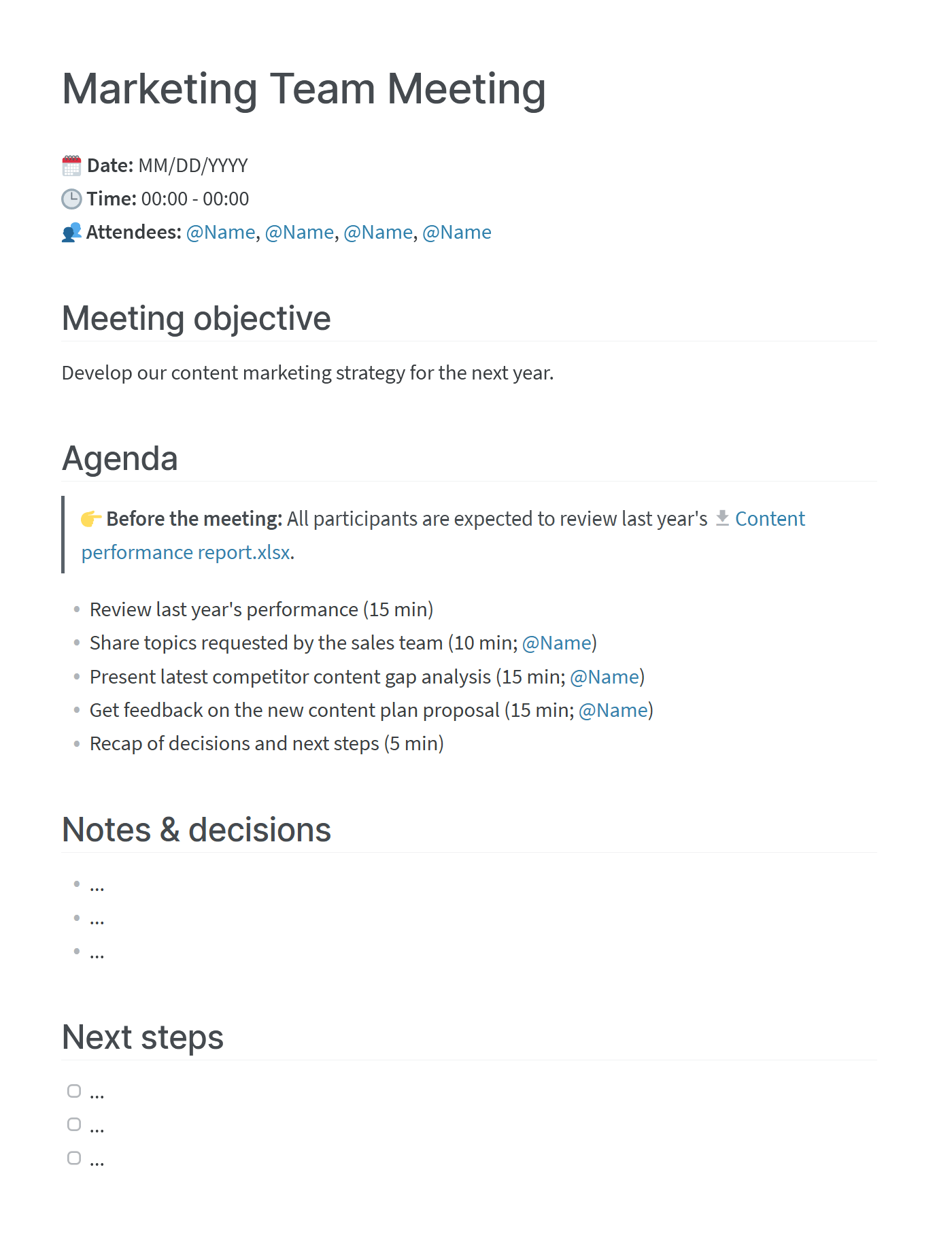 Today's businesses are increasingly complex and diverse. How To Write A Meeting Agenda Templates Examples