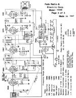 Free Fada Radio & Electric Corp Schematic Model 1000