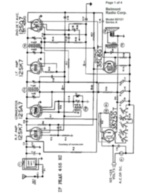 Free Belmont Radio Corp Corporation Schematic Model 6D121