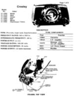 Free Crosley schematic 11-100U,11-101U,11-102U,11-103U,11