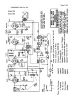 Free Fada Radio & Elec. Co. Inc. Schematic Model 605 609