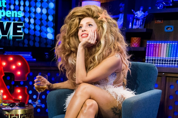 Drunken Gaga on Watch What Happens Live