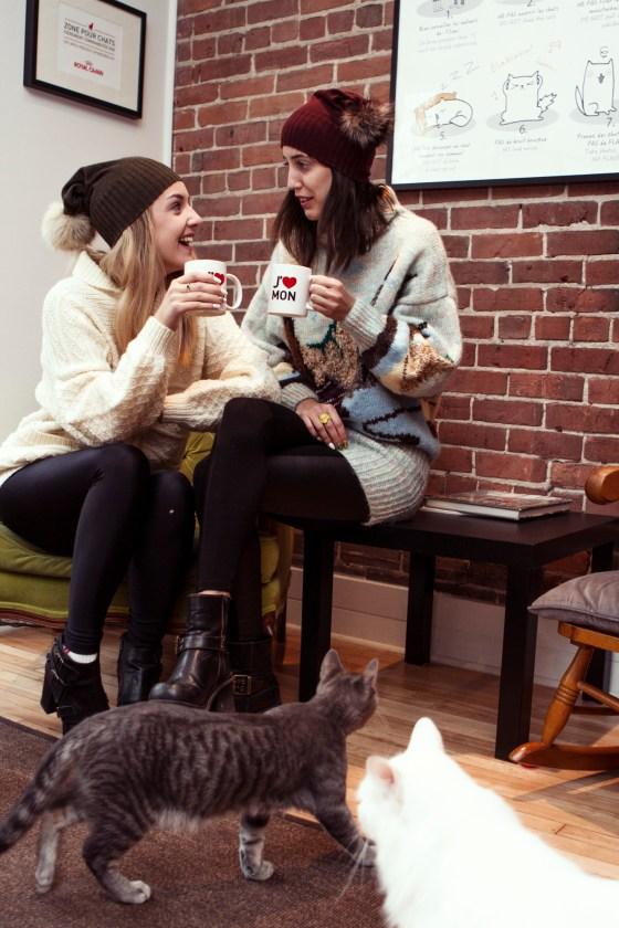 Nudabite X Trollsen Twins X Alexandra Côté Durrer Photography X Cat Cafe Montreal X Fripe Fabrique