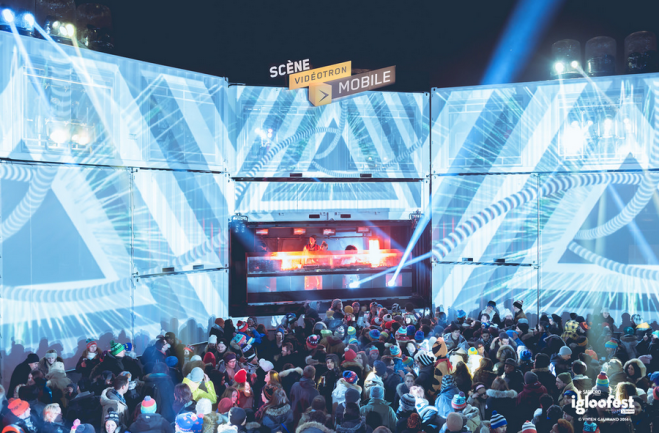 Igloofest Montreal Party  Blue Stage Nightlife Party Winter Dance House Music