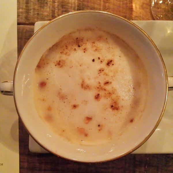 cabane a sucre Cappuccino de salsifis et panais