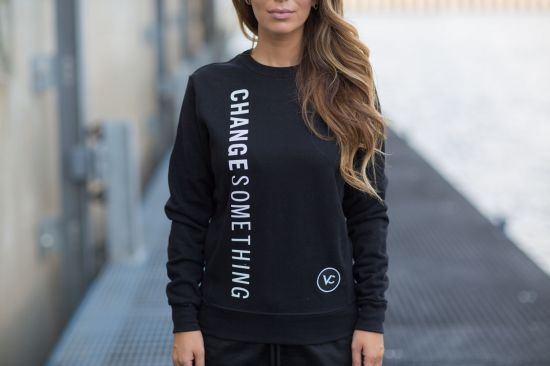 Views for Change womens black sweatshirt Montreal Canadian Ethical Fashion