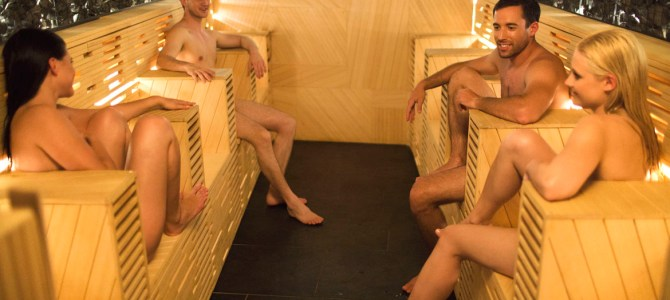 Sauna in costume?