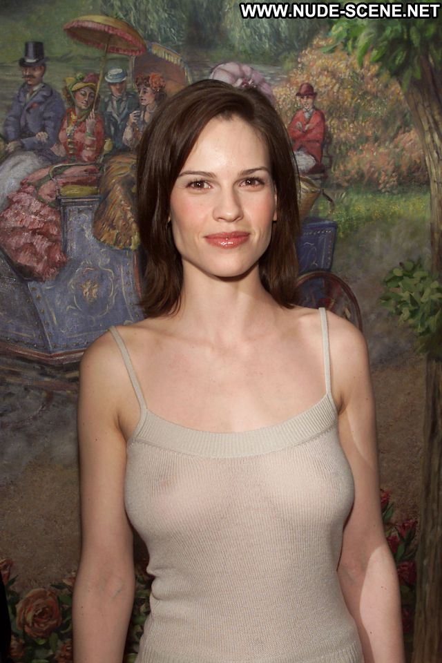 Hilary Swank Showing Tits Boots Posing Hot Celebrity See Through