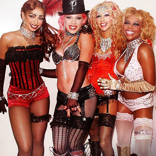 famous popstars in stockings pink and friends