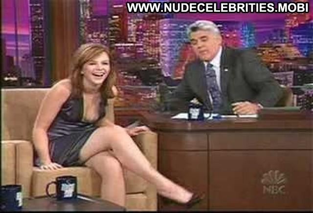 Amber Tamblyn The Tonight Show With Jay Leno Puffy Nipples Legs Bra