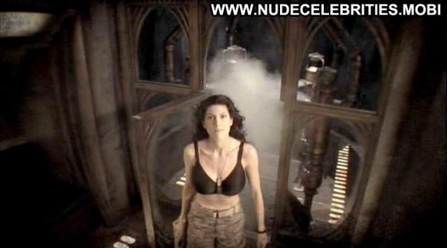 Julia Benson Stargate Universe Shirt Bra Shower Female Posing Hot