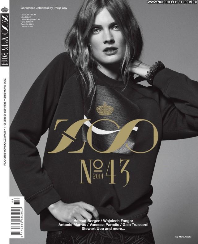 Constance Jablonski Zoo Magazine Summer Celebrity Posing Hot Female