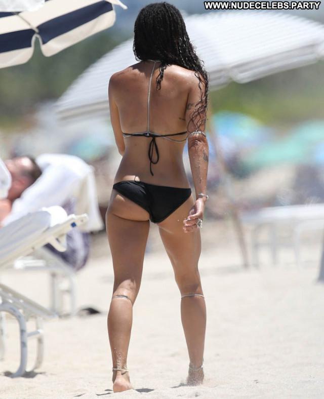 Zoe Kravitz American Babe Paparazzi Posing Hot Beach Celebrity