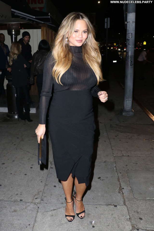 Chrissy Teigen Los Angeles Celebrity American Beautiful See Through