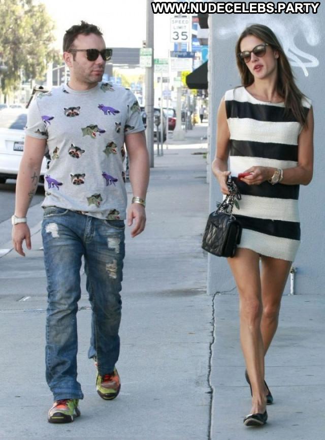 Alessandra Ambrosio West Hollywood Celebrity Posing Hot Beautiful