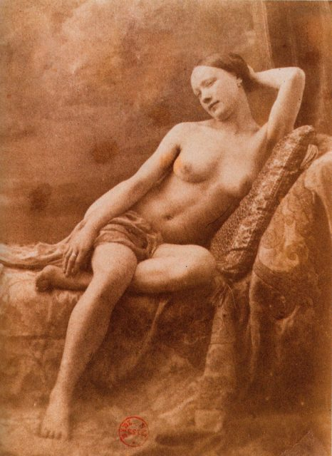 Nude female, Image by Eugene Durieu, 1855