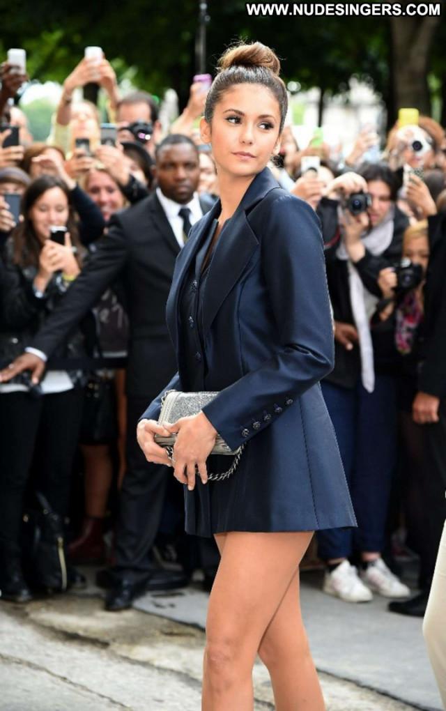 Nina Dobrev Posing Hot Celebrity Paris Babe Fashion Paparazzi