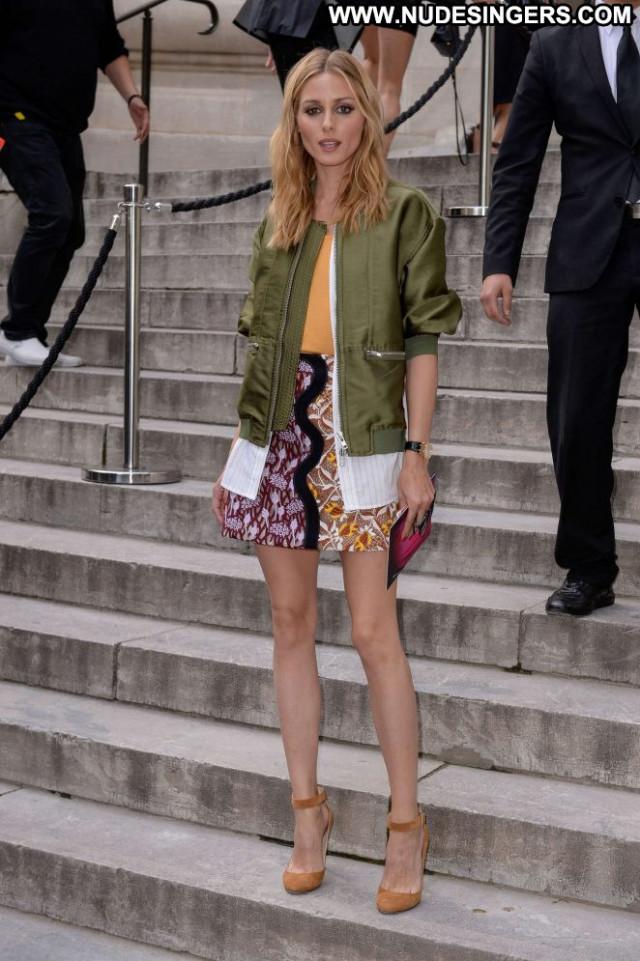 Olivia Palermo Paris Beautiful Paparazzi Posing Hot Celebrity Babe