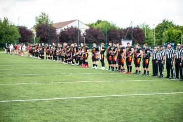 Deutsche Nationalmannschaft bei der Nationalhymne