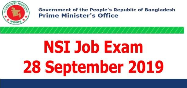 nsi job exam 28 September 2019