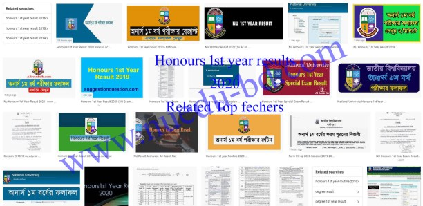 Honours 1st year Result 2020 related feature image info 1