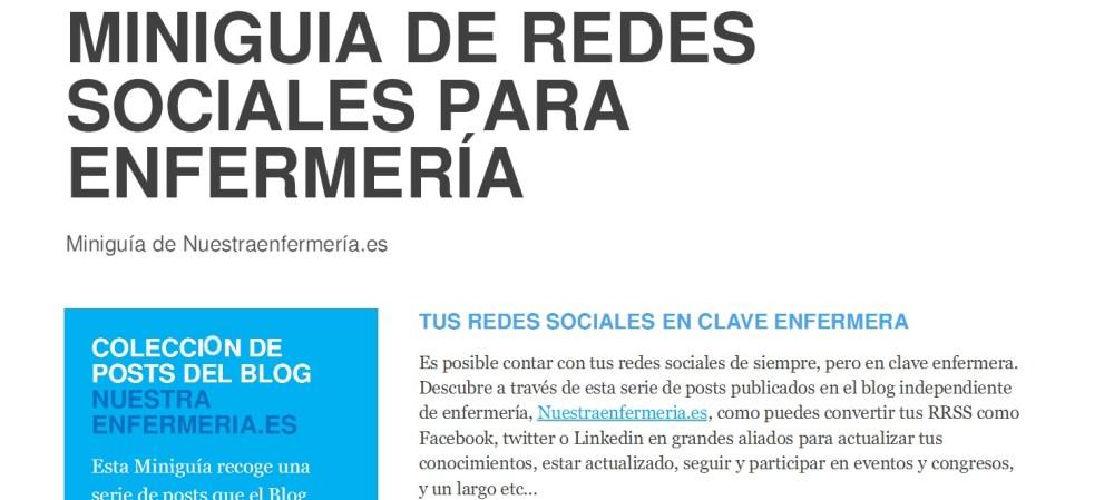 MINIGUIA DE REDES SOCIALES PARA ENFERMERÍA