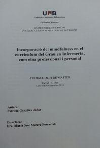 Incorporación del Mindfullness ene l currículum del grado de Enfermería, como herramienta profesional y personal