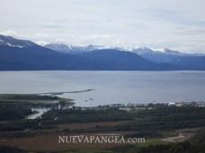 Vista de Puerto Williams desde el Cerro Bandera, Isla Navarino