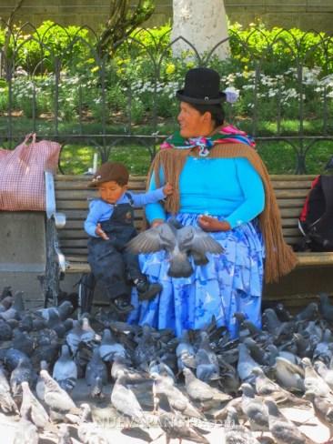 En las plazas de La Paz, bolivia